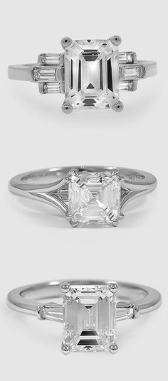 Would you say yes to one of these gorgeous, modern diamond engagement rings?