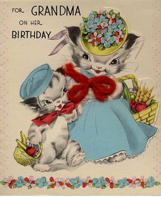 vintage birthday cards for sister - Google Search