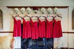 "Alfred Angelo Bridesmaid Dresses in color ""Claret"" #deepred #bridesmaiddress #redwedding"