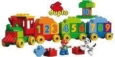Eisenbahn Starterset mit Bauplatten und Steineboxen von Lego Duplo