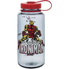 Nalgene 32 Ounce Wide Mouth Water Bottle - Nalgene and Marvel have come together to battle the greatest threat to mankind yet - thirst! Nalgene Water Bottle, Bpa Free Water Bottles, The Mighty Thor, Protective Packaging, Incredible Hulk, Iron Man, The Incredibles, Marvel, Outdoors
