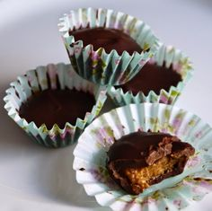 Handbags and Cupcakes: RECIPE: Healthy two-ingredient almond butter cups.