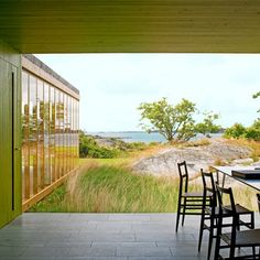 Home of Architect Gert Wingardh Outdoor Spaces, Indoor Outdoor, Outdoor Living, Outdoor Decor, Large Scale Art, Arch Model, House By The Sea, Swedish House, Small Buildings