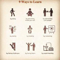 9 Ways To Learn #business #knowledge #grindwhiletheysleep #dreambig