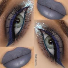 Something so alluring about grey makeup...