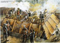 Knights Hospitallers Defending Rhodes  from the Mamluk Fleet, 1444