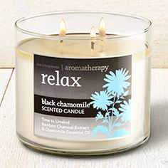 Relax - Black Chamomile 3-Wick Candle - Home Fragrance 1037181 - Bath & Body Works