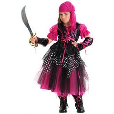 Princess Paradise Kids Deluxe Caribbean Pirate Costume For Girls PP4211-M