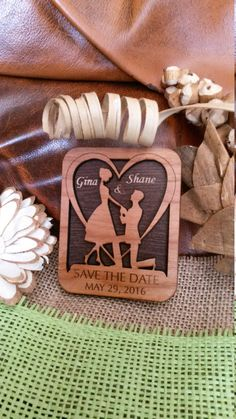Wood Save-The-date Magnet /Personalized by AmazingWoodCraft