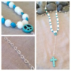 A personal favorite from my Etsy shop https://www.etsy.com/listing/184182182/peace-love-turquoise-rosary