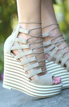 The perfect pair of gladiator wedge sandals for spring!