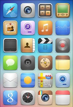 iOS 8 iPhone App Icons Printable Iphone icon, Iphone