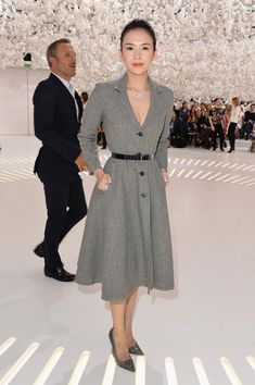 Zhang Ziyi attends the Christian Dior show as part of Paris Fashion Week - Haute Couture Fall/Winter 2014-2015 on July 7, 2014 in Paris, France.