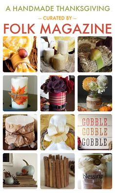 30 Handmade Thanksgiving Projects curated by @FOLK Magazine