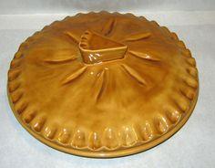 Pumpkin pie covered pie plate