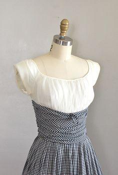 vintage 1950s SALTRELLO gingham dress