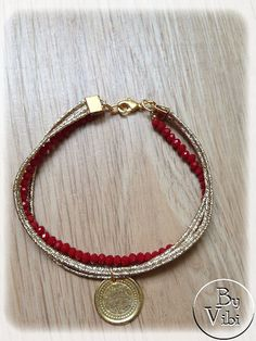 Bracelet cristal et charm par ByVibi sur Etsy