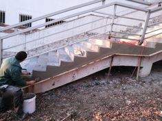 Sanácia a reprofilizácia schodov. #art4you #art4youpodlahy #sanácia #schody #exteriér