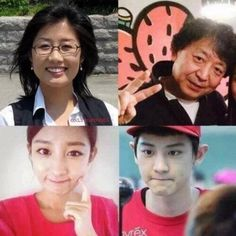 Park's family :Mr Park,Mrs Lee Young Mi,Park Yoora and Park Chanyeol pic.twitter.com/ZWguCAwr34