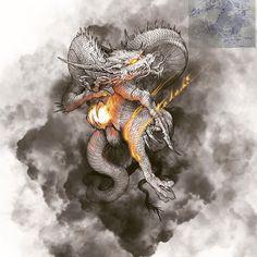 Chinese Dragon Art, Japanese Dragon, Japanese Tatoo, Asian Tattoos, Japan Tattoo, Dragon Artwork, Sugar Skull Art, Dragon Tattoo Designs, Dragon Head