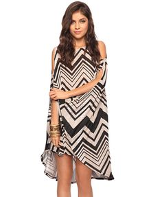 Love this chevron dress from Forver 21 could be a cute cover up