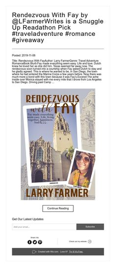 Rendezvous With Fay by is a Snuggle Up Readathon Pick Snuggles, Adventure Travel, San Diego, Love Her, Giveaway, Romance, Life, Romance Film, Romances