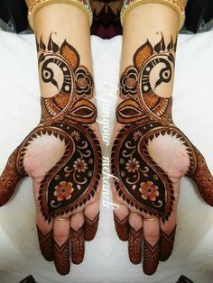 Browse the latest Mehndi Designs Ideas and images for brides online on HappyShappy! We have huge collection of Mehandi Designs for hands and legs, find and save your favorite Mehendi Design images. Henna Hand Designs, Mehndi Designs Finger, Peacock Mehndi Designs, Mehndi Designs Book, Mehndi Designs For Beginners, Mehndi Designs 2018, Stylish Mehndi Designs, Mehndi Designs For Fingers, Wedding Mehndi Designs