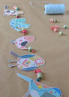 bird garland with Etsy templates | art bar