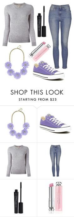 """""""Untitled #212"""" by fadedlipstick on Polyvore featuring BaubleBar, Converse, Burberry, Topshop, Smashbox and Christian Dior"""