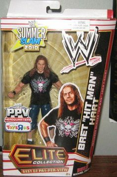 Mattel WWE Wrestling Exclusive Elite Collection Best of Pay Per View Action Figure Bret HartMichael Cole BuildAFigure by Mattel Toys. $28.99. Summerslam 2010!. Includes removable shirt!. Includes Michael Cole legs and pelvis!. The best of the WWE PayPerView Elite collection features highly detailed action figures with authentic ring attire from some of the best PayPerView matches in history! Figures offer more than 20 points of articulation with authentic detail...