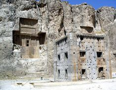 Naqsh-e Rostam is a site believed by archaeologists to have been a cemetery for Persepolis, where Achaemenid, Parthian and Sassanid royalty were laid to rest. Located about 3-4 kilometers northwest of Persepolis in Iran's Fars province