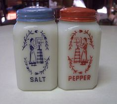 Hazel Atlas made the best Salt and Pepper Shakers for the Kitchen