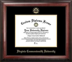 Virginia Commonwealth Rams Home Office Diploma Picture Frame