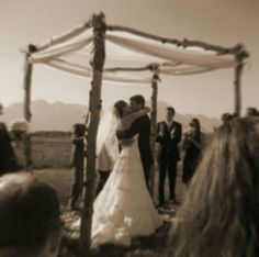 Beautiful Chuppah! Symbolizing the life they will build together. ...