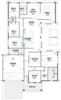 interior planning bedroom tips U Shaped House Plans, U Shaped Houses, Home Design Floor Plans, House Floor Plans, Building Plans, Building A House, House Plans South Africa, Interior Decorating Tips, Interior Design