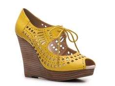 Restricted Mindy Wedge Pump - I think I need these too. Daydreaming of warm weather...
