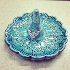 Turquoise Ring Holder from Etsy