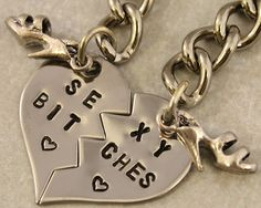 Getting my girls this. No matter what they know what's up. The kind that won't let a bitch lay a hand on me. I got that tho. Bff Gifts, Best Friend Gifts, Gifts For Friends, My Best Friend, Bff Necklaces, Heart Keyring, Cool Items, Bffs, Key Chain