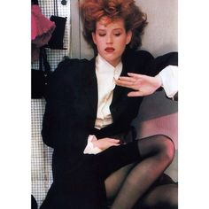 Molly Ringwald in John Galliano, photographed by Sheila Metzner for Vogue, September 1987.