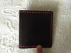 Genuine Leather Black Wallet with Pump Handle by HeirloomLeather, $68.00