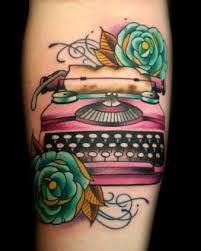 vintage typewriter tattoo - Google Search