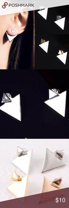 HOST PICK Punk Earings Triangle Punk Ear Rings . NWOT . Metal is Alloy. PRICE IS FIRM UNLESS BUNDLED. New in package Jewelry Earrings