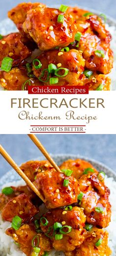 The Best Firecracker Chicken Recipe Amazіng rеstaurant qualіty chіckеn that has just thе rіght amount of swееt and thе rіght amount of . Chicken Sauce Recipes, Sauce For Chicken, Chicken Bites, Crispy Chicken, Spicy Chinese Chicken, Sweet And Spicy Chicken, Sweet And Spicy Sauce, Spicy Recipes, Asian Recipes