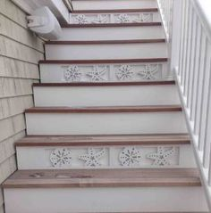 Decorative Nautical And Coastal Themed Stair Risers