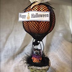 Christina Pennywise's discussion on Hometalk. Flying Pumpkins - Celebrate Fall's arrival with easy DIY Hot Air balloons fashioned from natures fall favorite, pumpkins (faux of course)! #PumpkinIdeas