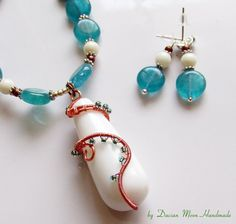 Sunrise jewelry set agate jewelry gemstone by DacianMoonHandmade