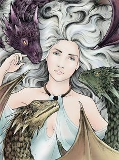Game of Thrones: Mother of Dragons. Ink & Digital. 2014.