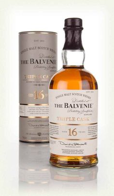 16 year old Balvenie single malt Scotch whisky from their Triple Cask range, which was launched for travel retail. Good Whiskey, Scotch Whiskey, Bourbon Whiskey, Alcohol Dispenser, Single Malt Whisky, Distillery, Tequila, Whiskey Bottle, Liquor