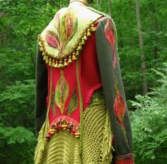 Hey, I found this really awesome Etsy listing at http://www.etsy.com/listing/157870979/patchwork-felted-sweater-coat-woodland