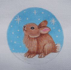 HP Snow Bunny needlepoint canvas by colors1
